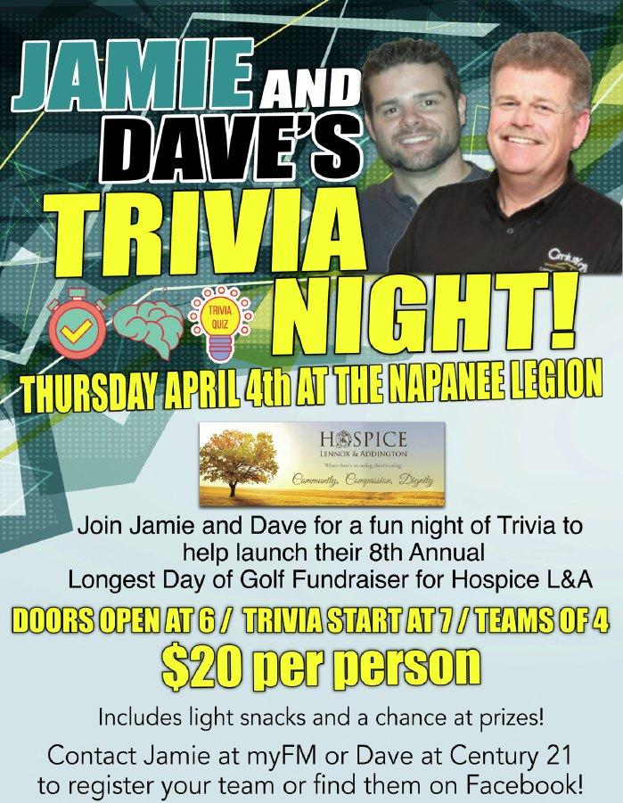 Jamie and Dave's Trivia Night